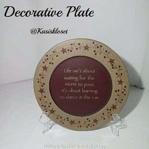 🎈4/$20🎈Decorative Plate *Stand not included*